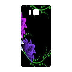 Neon Flowers Floral Rose Light Green Purple White Pink Sexy Samsung Galaxy Alpha Hardshell Back Case by Alisyart