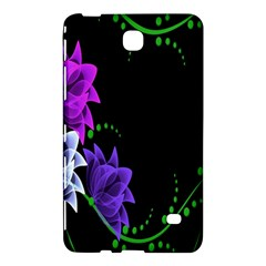 Neon Flowers Floral Rose Light Green Purple White Pink Sexy Samsung Galaxy Tab 4 (8 ) Hardshell Case