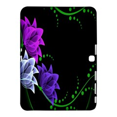 Neon Flowers Floral Rose Light Green Purple White Pink Sexy Samsung Galaxy Tab 4 (10 1 ) Hardshell Case