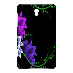 Neon Flowers Floral Rose Light Green Purple White Pink Sexy Samsung Galaxy Tab S (8 4 ) Hardshell Case