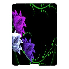 Neon Flowers Floral Rose Light Green Purple White Pink Sexy Samsung Galaxy Tab S (10 5 ) Hardshell Case