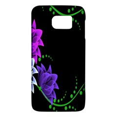 Neon Flowers Floral Rose Light Green Purple White Pink Sexy Galaxy S6