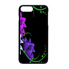 Neon Flowers Floral Rose Light Green Purple White Pink Sexy Apple Iphone 7 Plus Seamless Case (black)