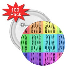 Multiplication Printable Table Color Rainbow 2 25  Buttons (100 Pack)  by Alisyart