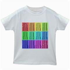 Multiplication Printable Table Color Rainbow Kids White T Shirts by Alisyart