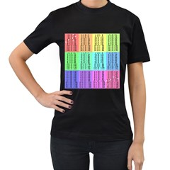 Multiplication Printable Table Color Rainbow Women s T Shirt (black) (two Sided) by Alisyart