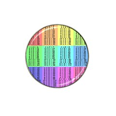 Multiplication Printable Table Color Rainbow Hat Clip Ball Marker by Alisyart