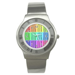 Multiplication Printable Table Color Rainbow Stainless Steel Watch by Alisyart