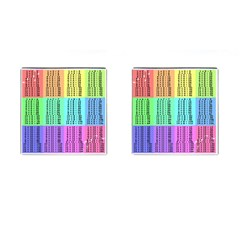 Multiplication Printable Table Color Rainbow Cufflinks (square)