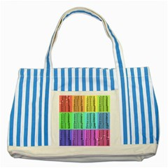 Multiplication Printable Table Color Rainbow Striped Blue Tote Bag by Alisyart