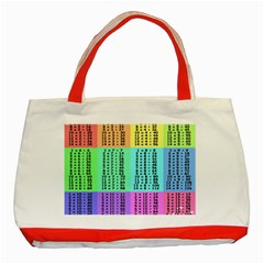Multiplication Printable Table Color Rainbow Classic Tote Bag (red) by Alisyart
