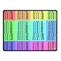 Multiplication Printable Table Color Rainbow Fleece Blanket (small)