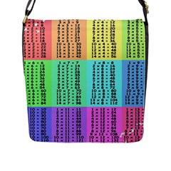 Multiplication Printable Table Color Rainbow Flap Messenger Bag (l)  by Alisyart