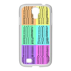 Multiplication Printable Table Color Rainbow Samsung Galaxy S4 I9500/ I9505 Case (white) by Alisyart