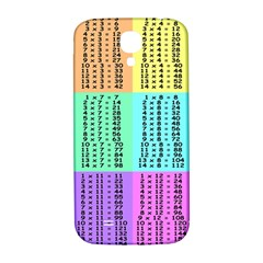 Multiplication Printable Table Color Rainbow Samsung Galaxy S4 I9500/i9505  Hardshell Back Case