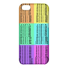 Multiplication Printable Table Color Rainbow Apple Iphone 5c Hardshell Case by Alisyart