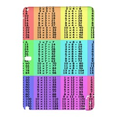 Multiplication Printable Table Color Rainbow Samsung Galaxy Tab Pro 10 1 Hardshell Case
