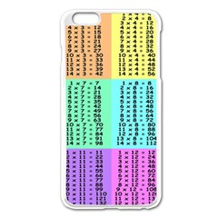 Multiplication Printable Table Color Rainbow Apple Iphone 6 Plus/6s Plus Enamel White Case by Alisyart