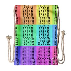 Multiplication Printable Table Color Rainbow Drawstring Bag (large) by Alisyart