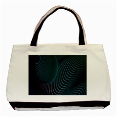 Line Light Blue Green Purple Circle Hole Wave Waves Basic Tote Bag by Alisyart