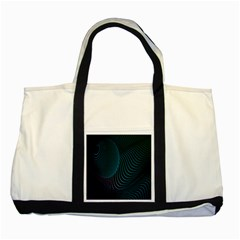 Line Light Blue Green Purple Circle Hole Wave Waves Two Tone Tote Bag by Alisyart