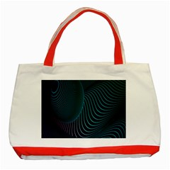 Line Light Blue Green Purple Circle Hole Wave Waves Classic Tote Bag (red) by Alisyart