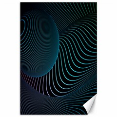 Line Light Blue Green Purple Circle Hole Wave Waves Canvas 12  X 18   by Alisyart