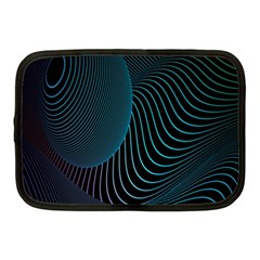 Line Light Blue Green Purple Circle Hole Wave Waves Netbook Case (medium)  by Alisyart