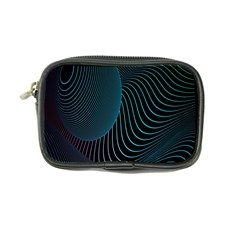 Line Light Blue Green Purple Circle Hole Wave Waves Coin Purse by Alisyart