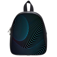 Line Light Blue Green Purple Circle Hole Wave Waves School Bags (small)