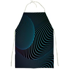 Line Light Blue Green Purple Circle Hole Wave Waves Full Print Aprons by Alisyart