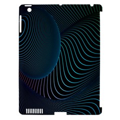 Line Light Blue Green Purple Circle Hole Wave Waves Apple Ipad 3/4 Hardshell Case (compatible With Smart Cover)