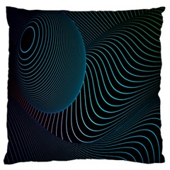 Line Light Blue Green Purple Circle Hole Wave Waves Large Cushion Case (two Sides) by Alisyart
