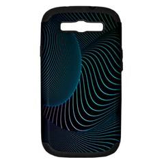 Line Light Blue Green Purple Circle Hole Wave Waves Samsung Galaxy S Iii Hardshell Case (pc+silicone)