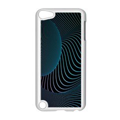 Line Light Blue Green Purple Circle Hole Wave Waves Apple Ipod Touch 5 Case (white)