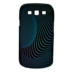 Line Light Blue Green Purple Circle Hole Wave Waves Samsung Galaxy S Iii Classic Hardshell Case (pc+silicone)