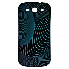 Line Light Blue Green Purple Circle Hole Wave Waves Samsung Galaxy S3 S Iii Classic Hardshell Back Case