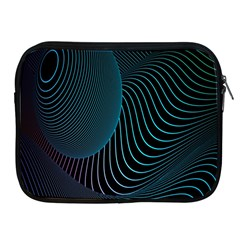 Line Light Blue Green Purple Circle Hole Wave Waves Apple Ipad 2/3/4 Zipper Cases