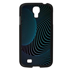 Line Light Blue Green Purple Circle Hole Wave Waves Samsung Galaxy S4 I9500/ I9505 Case (black)