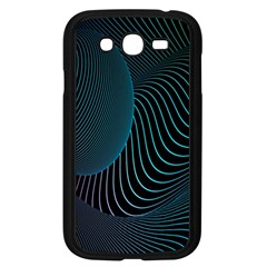 Line Light Blue Green Purple Circle Hole Wave Waves Samsung Galaxy Grand Duos I9082 Case (black)