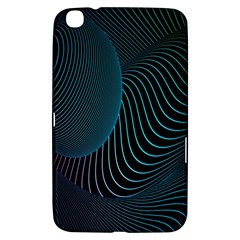 Line Light Blue Green Purple Circle Hole Wave Waves Samsung Galaxy Tab 3 (8 ) T3100 Hardshell Case  by Alisyart