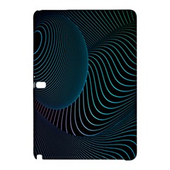 Line Light Blue Green Purple Circle Hole Wave Waves Samsung Galaxy Tab Pro 10 1 Hardshell Case by Alisyart