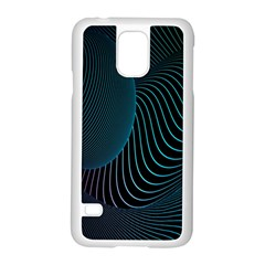 Line Light Blue Green Purple Circle Hole Wave Waves Samsung Galaxy S5 Case (white)