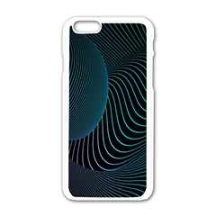 Line Light Blue Green Purple Circle Hole Wave Waves Apple Iphone 6/6s White Enamel Case by Alisyart