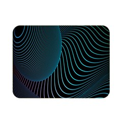 Line Light Blue Green Purple Circle Hole Wave Waves Double Sided Flano Blanket (mini)  by Alisyart