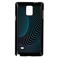 Line Light Blue Green Purple Circle Hole Wave Waves Samsung Galaxy Note 4 Case (black) by Alisyart