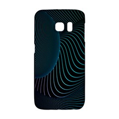 Line Light Blue Green Purple Circle Hole Wave Waves Galaxy S6 Edge