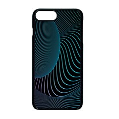 Line Light Blue Green Purple Circle Hole Wave Waves Apple Iphone 7 Plus Seamless Case (black)