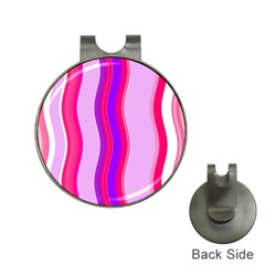 Pink Wave Purple Line Light Hat Clips With Golf Markers by Alisyart