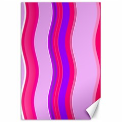 Pink Wave Purple Line Light Canvas 20  X 30   by Alisyart